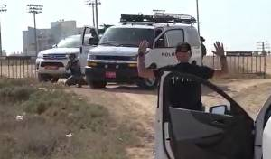 צפו בתיעוד: כך נעצרה חוליית מחבלים בנגב