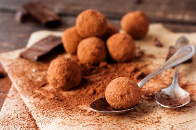 טראפלס שוקולד בציפוי קקאו