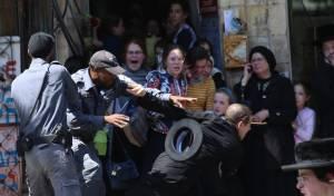 רגע סוער באחת ההפגנות השבוע