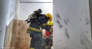 בן 50 נפצע קשה מאוד בשריפה בירושלים