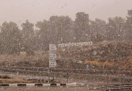 שלג השבוע בגוש עציון