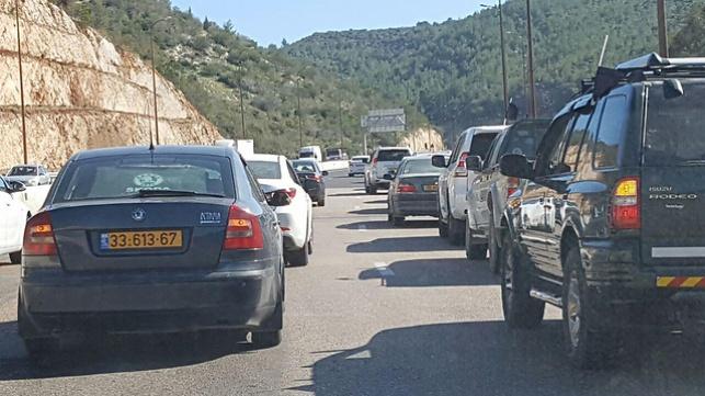 העומס בכבישים אתמול, בעקבות המחאה שדרשה את שחרור הגופה