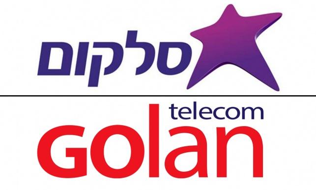 לוגו סלקום ולוגו גולן טלקום