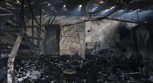 יקב המצודה שנשרף
