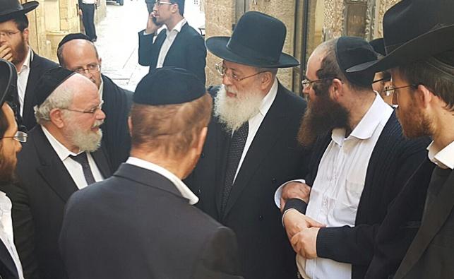 רבה של ירושלים ביקר את המשגיחים ברובע