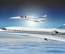 דגמי המטוס החדש - מטוס על קולי חדש יאפשר טיסות זולות יותר ומהירות יותר