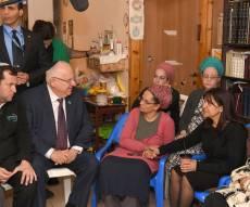 הנשיא בניחום האבלים - ריבלין ניחם את משפ' שבח: נבנה מתוך אהבה