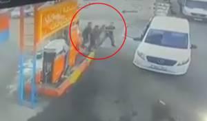 צפו: מסתערבים עצרו מבוקש בתחנת דלק