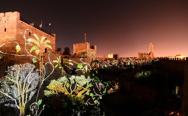 מופע אור קולי על מגדל דוד