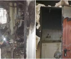 גבר ואישה נפצעו קשה בשריפה באופקים