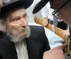 """מרן הרב שטיינמן בחג פסח האחרון - מרן הגראי""""ל שטיינמן הועבר ל'טיפול נמרץ'"""