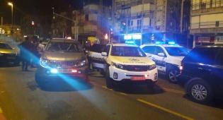 """זירת מעצר החשודים - ב""""ב: מרדף לילי ומעצר של חשודים בפריצה"""