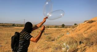 בלון תבערה בדרך לישראל