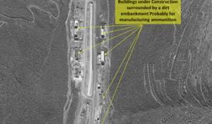 תמונת הלוויין עם מפעל הטילים
