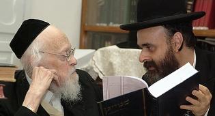 """הרב יעקב ב. פרידמן עם מרן הגרי""""ש אלישיב זצוק""""ל"""