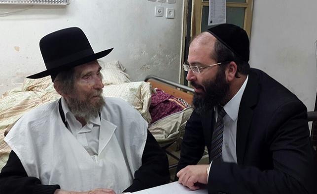 """הרב יעקב רוזנשטיין עם מרן הגראי""""ל שטיינמן"""
