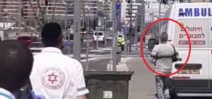 האדם שפירכס מתהלך כהרגלו לאחר השוקים שקיבל