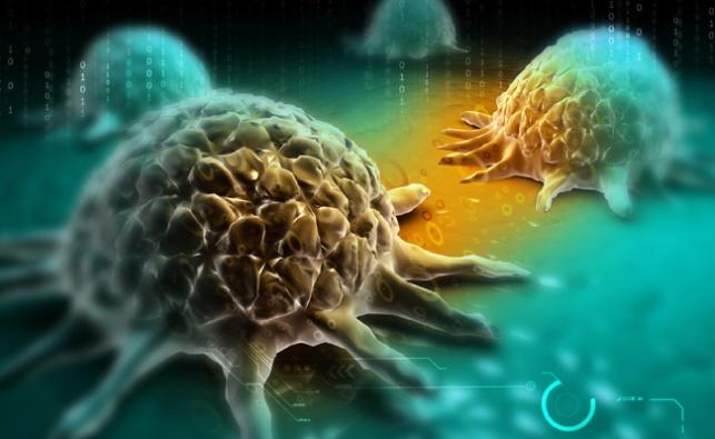 איור דיגיטלי של תאים סרטניים
