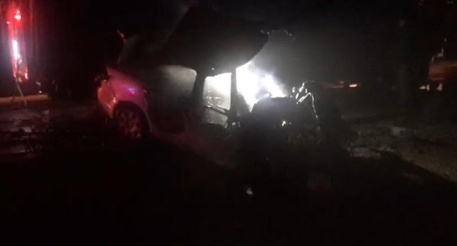 זירת התאונה הקטלנית בכביש 90