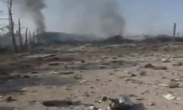האתר שהופצץ בסוריה