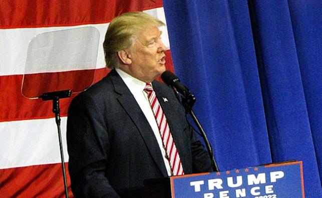 טראמפ במהלך קמפיין הבחירות