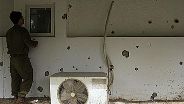 בית בדרום לאחר פגיעה