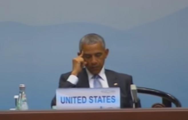 גם הנשיא אובמה נרדם בפסגת ה-G20. צפו