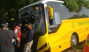 אוטובוס ילדים סטה לתעלה: 5 נפצעו קל