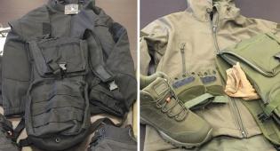 אלפי פריטי לבוש צבאיים נתפסו בדרך לעזה