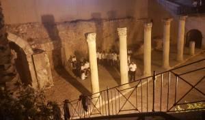 בני הישיבה קוננו על החורבן במתחם הקארדו • צפו