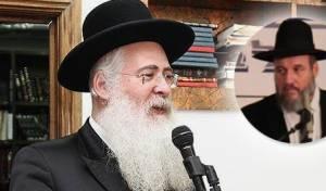 הרב משה חיים לאו. בתמונה הקטנה: הרב סורוצקין
