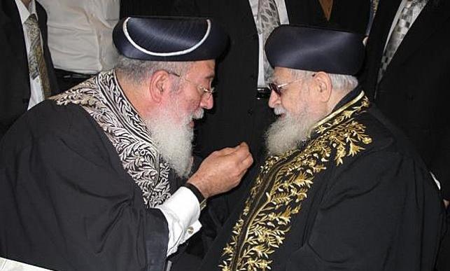 """הרב עמאר פועל נגד הגר""""ע יוסף"""