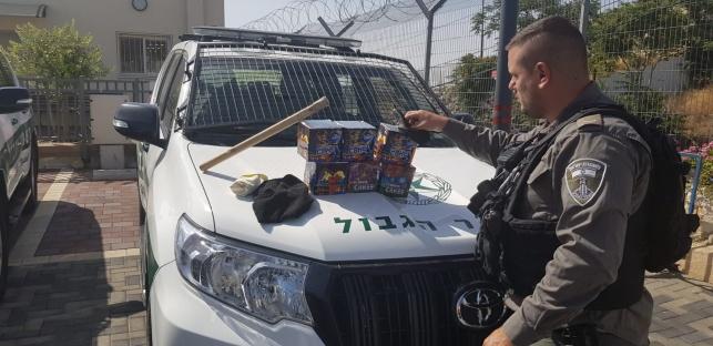 המשטרה במבצע נגד ירי זיקוקים פלסטיני