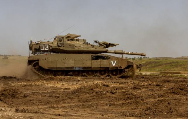 טנק בגבול ישראל-סוריה