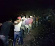 67 פלסטינים נתפסו באמצע גניבת ענק. צפו