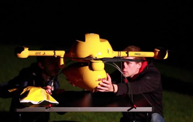 """צפו: המשלוח הראשון שהועף במל""""ט"""