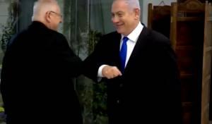 """""""נמסטה"""": נתניהו וגנץ נפגשו בבית הנשיא"""