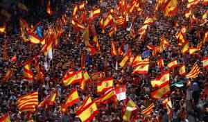 מאות אלפי מפגינים בקטלוניה נגד עצמאות