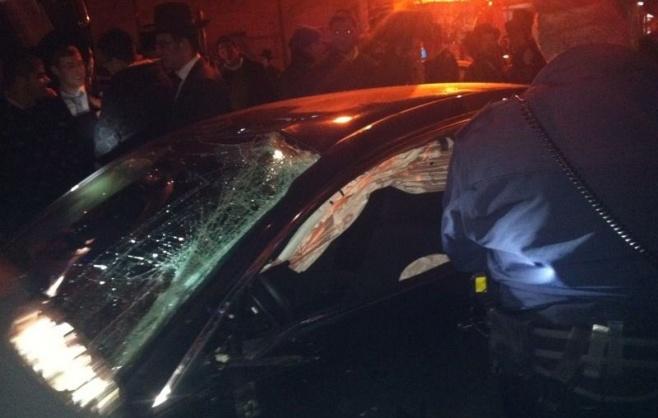 הרכב, לאחר התאונה. צילום: חדשות 24