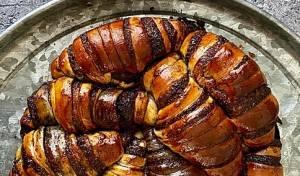 כמו כתר לשבת המלכה: עוגת רוגלך יפהפייה של חסי סגל