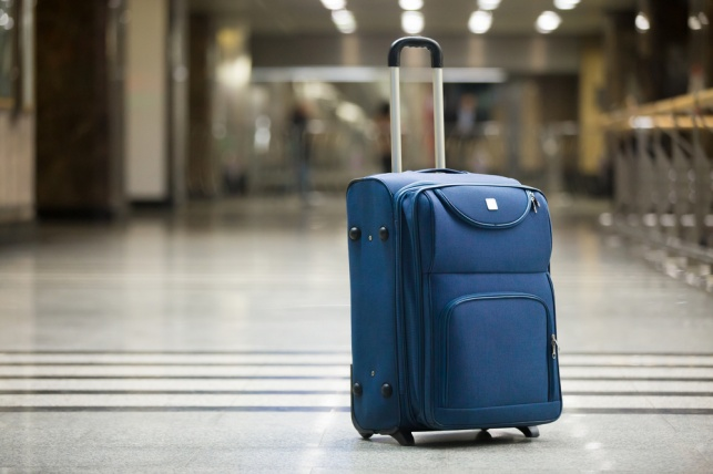 מזוודה בשדה תעופה. אילוסטרציה