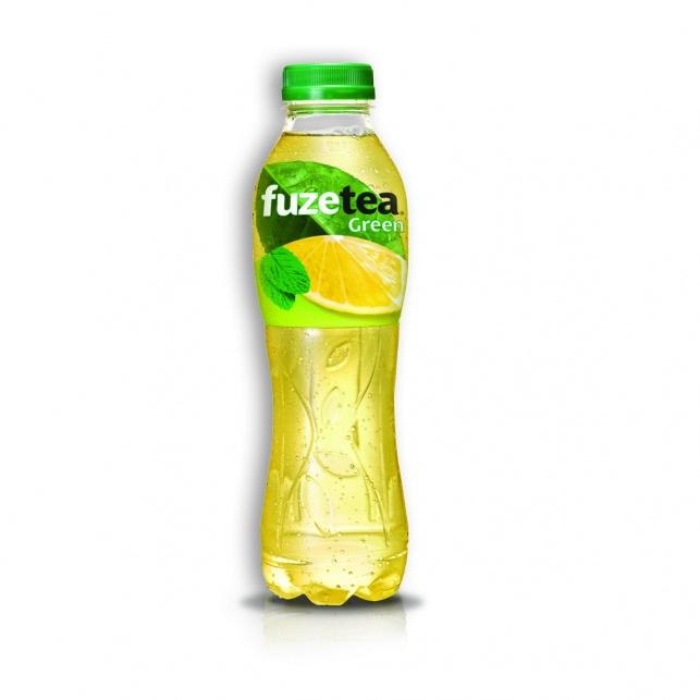 פיוז טי גרין בטעם לימון-נענע תה ירוק אמיתי