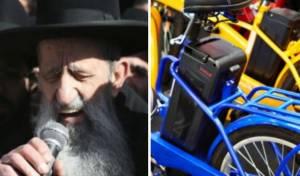 """הרב מוצפי: """"אופניים חשמליים - זה רצח"""""""