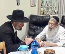 אריה דרעי ביקר בבית הרב שלמה בן שמעון