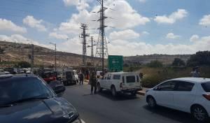 זירת האירוע - ניסיון פיגוע ליד קרית ארבע: המחבל נוטרל