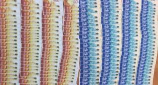 חלק מהכסף המזויף שנתפס
