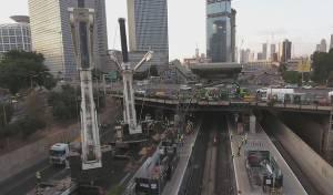 """העבודות בתחנת הרכבת - מהבוקר: תחנת רכבת השלום בת""""א סגורה"""