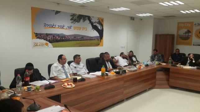 ישיבת המועצה אמש