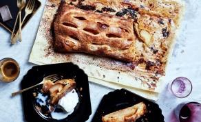 בורקס ענק במילוי תפוחים ושקדים - קינוח לחג: בורקס ענק של תפוחים ושקדים