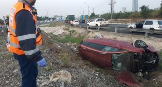 זירת האסון - טרגדיה בכביש 4: בחורי ישיבה מגור נפגעו בתאונה מחרידה